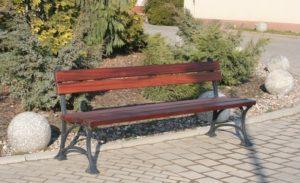 ławka z oparciem żeliwna